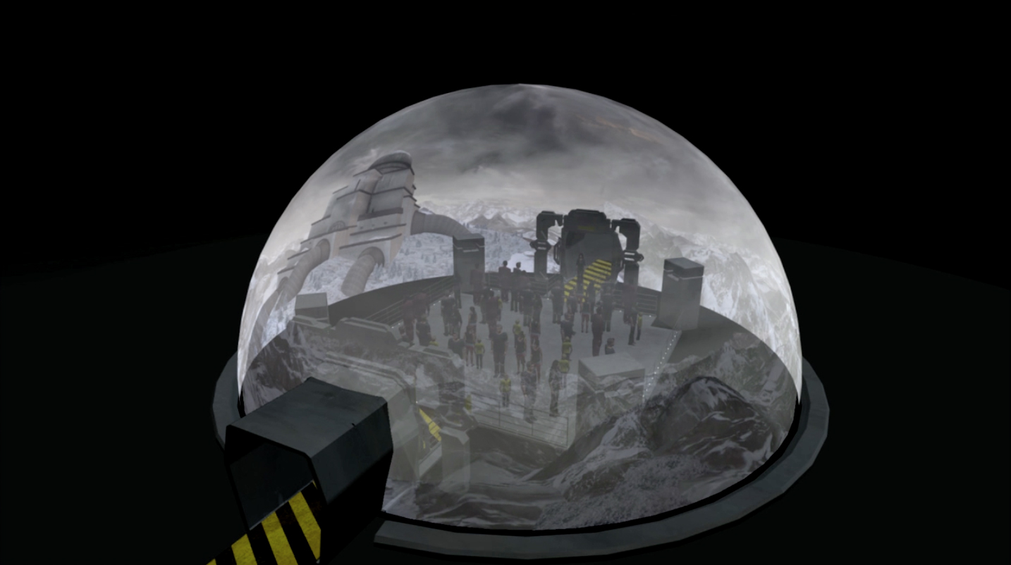 We can render spherical media for unique set-ups, such as a domed experience.