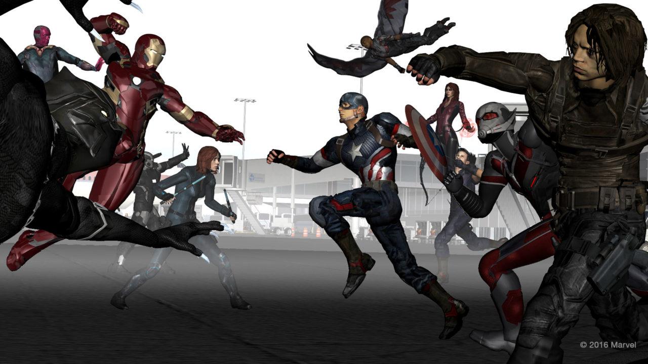 "The Third Floor previs for Marvel's ""Captain America: Civil War."""